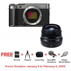 FUJIFILM X-A7 DARK SILVER WITH XF 35MM F.20 BUNDLE
