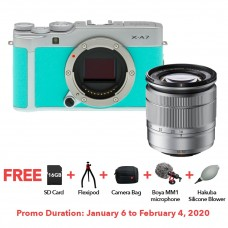 FUJIFILM X-A7 WITH 16-50MM LENS MINT GREEN