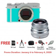 FUJIFILM X-A7 MINT GREEN WITH XF 35MM F.20 BUNDLE