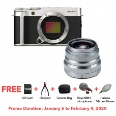 FUJIFILM X-A7 SILVER WITH XF 35MM F.20 BUNDLE