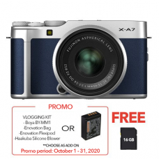 FUJIFILM X-A7 WITH 15-45MM LENS NAVY BLUE