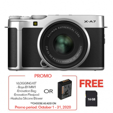 FUJIFILM X-A7 WITH 15-45MM LENS SILVER