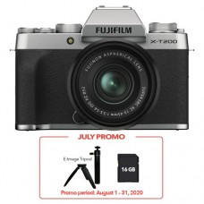 FUJIFILM X-T200 MIRRORLESS WITH 15-45MM SILVER
