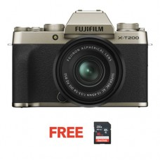 FUJIFILM X-T200 MIRRORLESS WITH 15-45MM CHAMPAGNE GOLD