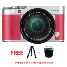 FUJIFILM X-A3 W/ 16-50MM (PINK KIT)