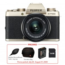 FUJIFILM X-T100 with 15-45mm LENS KIT CHAMPAGNE GOLD