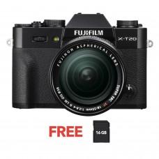 FUJIFILM X-T20 W/ 18-55MM (BLACK KIT)