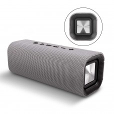 HAVIT M16 DECORATIVE BLUETOOTH SPEAKERS WITH WOVEN FABRIC MESH SURFACE & 10W OUTPUT (GRAY)