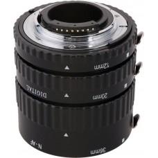 Meike 3-piece Macro Extension Tube Set for Nikon MK-N-AF1-A Metal