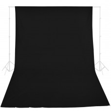 MUSLIN Background Cloth 10x20 - Black
