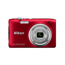 NIKON COOLPIX A100 (Red)  [with FREE 8GB MEMORY CARD]