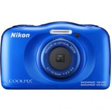 NIKON COOLPIX W100 DIGITAL CAMERA (Blue) [CLEARANCE SALE. SEE WARRANTY DETAILS]