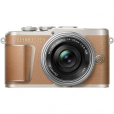 OLYMPUS E-PL9 BODY (W/ 14-42MM) BROWN [ONLINE EXCLUSIVE]