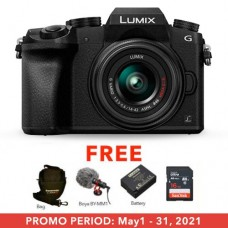 PANASONIC LUMIX DMC-G7 MIRRORLESS MICRO FOUR THIRDS DIGITAL CAMERA WITH 14-42MM LENS (BLACK)