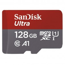 SANDISK ULTRA 128GB MICROSDXC UHS-I CARD WITH ADAPTER - 100MB/S U1 A1