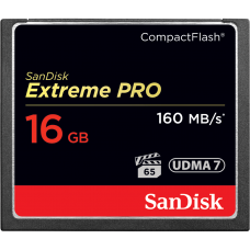 SANDISK Extreme Pro 16GB CompactFlash Card 160MB/S 1067X (S)