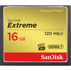 SANDISK Extreme Compact Flash Card 16GB 120MB/S 800X (S)