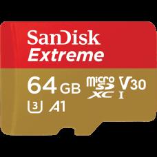 SANDISK SDXC EXTREME® microSD 64G (R90M/W60 U3 V30 4K) (CLASS 10)
