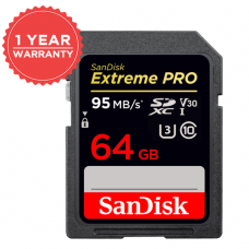 SANDISK 64GB EXTREME PRO SDHC UHS-I 95MB/S MEMORY CARD (S)