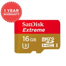 SANDISK EXTREME 16GB MICRO SD 90MB/S UHS-I U3 4K SDSDQXNE-016G