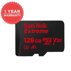 Sandisk EXTREME® microSDXC128G (R90M/W60 U3 V30 4K) (CLASS 10)