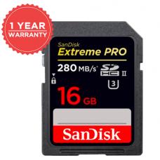 SANDISK EXTREME PRO®SD UHS-II 16GB 280MB/S 1867X (S)