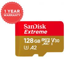 SANDISK EXTREME 128GB MICRO SD 160/90 MB/S U3 4K A2 SDSQXA1-128G