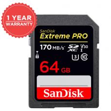 SANDISK EXTREME PRO 64GB SD170mb/s V30 SDSDXXY-064G