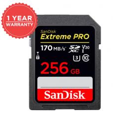 SANDISK EXTREME PRO 256GB SD 170MB/S V30 SDSDXXY-256G