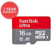 SANDISK ULTRA 16GB MicroSDHC UHS-I Card With Adapater - 98MB/S U1 A1