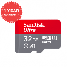 SANDISK ULTRA 32GB MicroSDHC UHS-I Card with Adapater - 98MB/S U1 A1