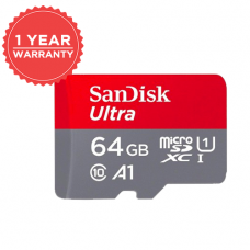 SANDISK ULTRA 64GB MICROSDXC UHS-I CARD WITH ADAPTER - 100MB/S U1 A1