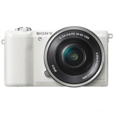 SONY ALPHA 5100 WITH 16-50MM WHITE [ONLINE PRICE] [WITH FREE MEMORY CARD, BAG]