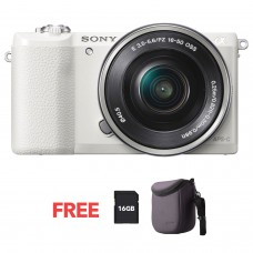 SONY ALPHA 5100 WITH 16-50MM KIT WHITE [ONLINE PRICE]