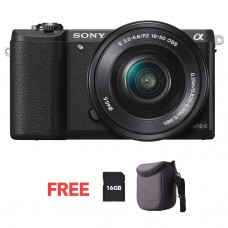 SONY ALPHA 5100 WITH 16-50MM KIT BLACK [ONLINE PRICE]