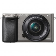 SONY ALPHA a6000 WITH 16-50MM (KIT) GUN METAL GRAY