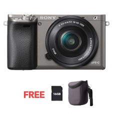 SONY ALPHA 6000 WITH 16-50MM (KIT) GUN METAL GRAY [ONLINE PRICE]