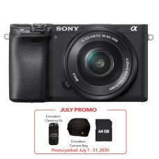 SONY ALPHA a6400 WITH 16-50MM (KIT) BLACK