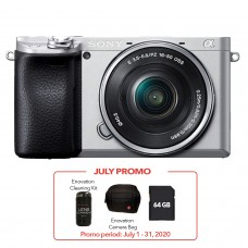 SONY ALPHA a6400 WITH 16-50MM (KIT) SILVER