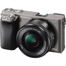 Sony Alpha 6000 with 16-50MM (KIT) GUN METAL GRAY [ONLINE PRICE] [with FREE MEMORY CARD AND BAG]
