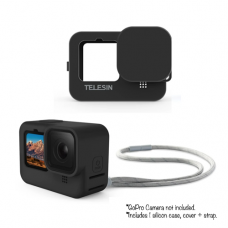 TELESIN PROTECTIVE SILICONE CASE WITH LANYARD STRAP FOR HERO 9