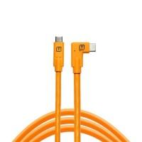 TETHERPRO USB-C to USB-C RIGHT ANGLE - ORANGE