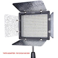 YONGNUO 300III LED VIDEOLIGHT CAMERA CAMCORDER FOR NKN/CNN WITH ADAPTER