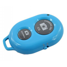 BLUETOOTH SELFIE REMOTE SHUTTER FOR MOBILE (BLUE) [CLEARANCE SALE / NO WARRANTY])